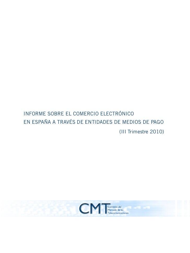 Comercio electrónico España: Datos CMT 3T10 1.901m€ +27%