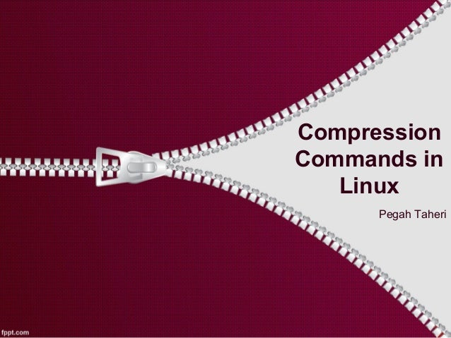 Compression Commands in Linux Pegah Taheri