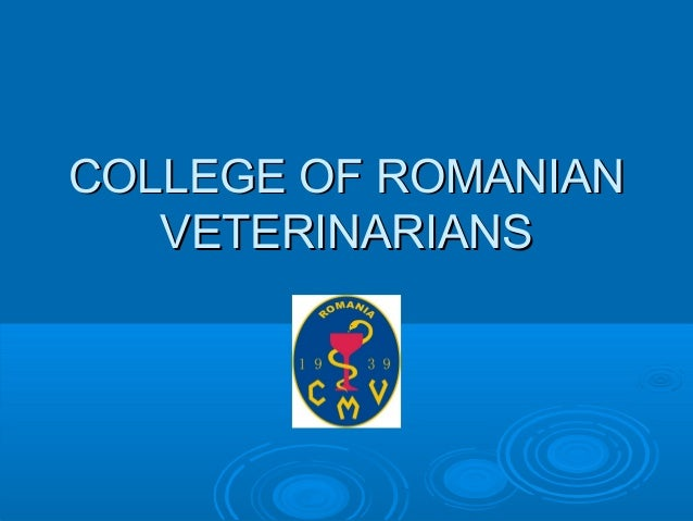 CMVRo - College of Romanian Veterinarians