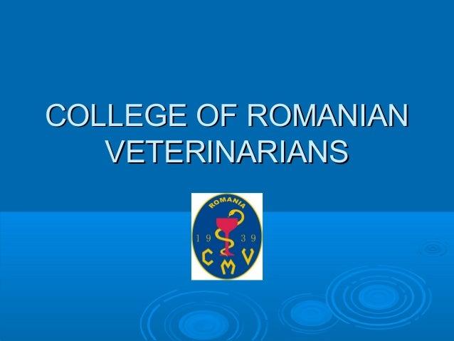CMVRo - College of Romanian Veterinarians
