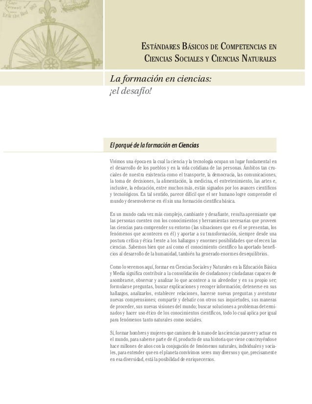 Cmvw - Estandares basicos de competencias en ciencias naturales (2006)