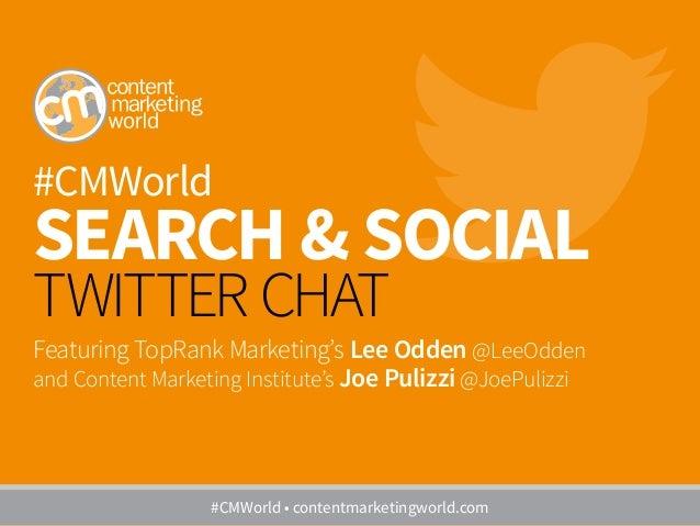 #CMWorld Search & Social Twitter Chat