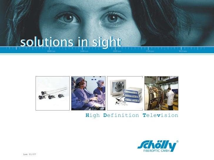 HDTV Endoscopy