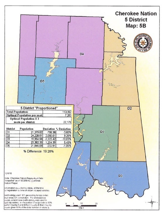 NEW Five District Map