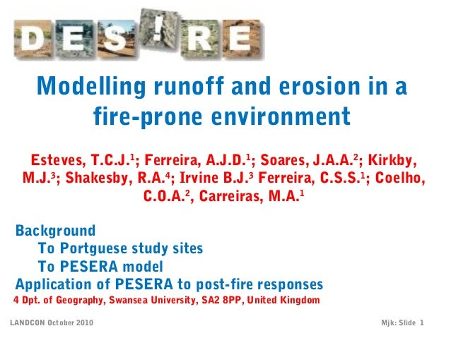 Cn 6 th14_aveiro_modelling_runoff_and_erosion_in_a_fire-prone_environment_coelho