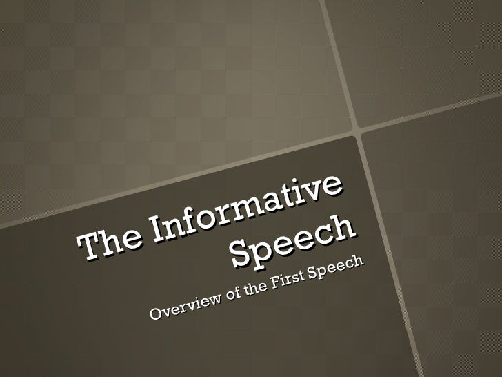 100 informative speech topics More informative speech topics the worst jobs in history how to escape the earth's gravity homing pigeons why the titanic sank origin of cornbread.