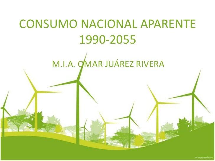 CONSUMO NACIONAL APARENTE       1990-2055    M.I.A. OMAR JUÁREZ RIVERA