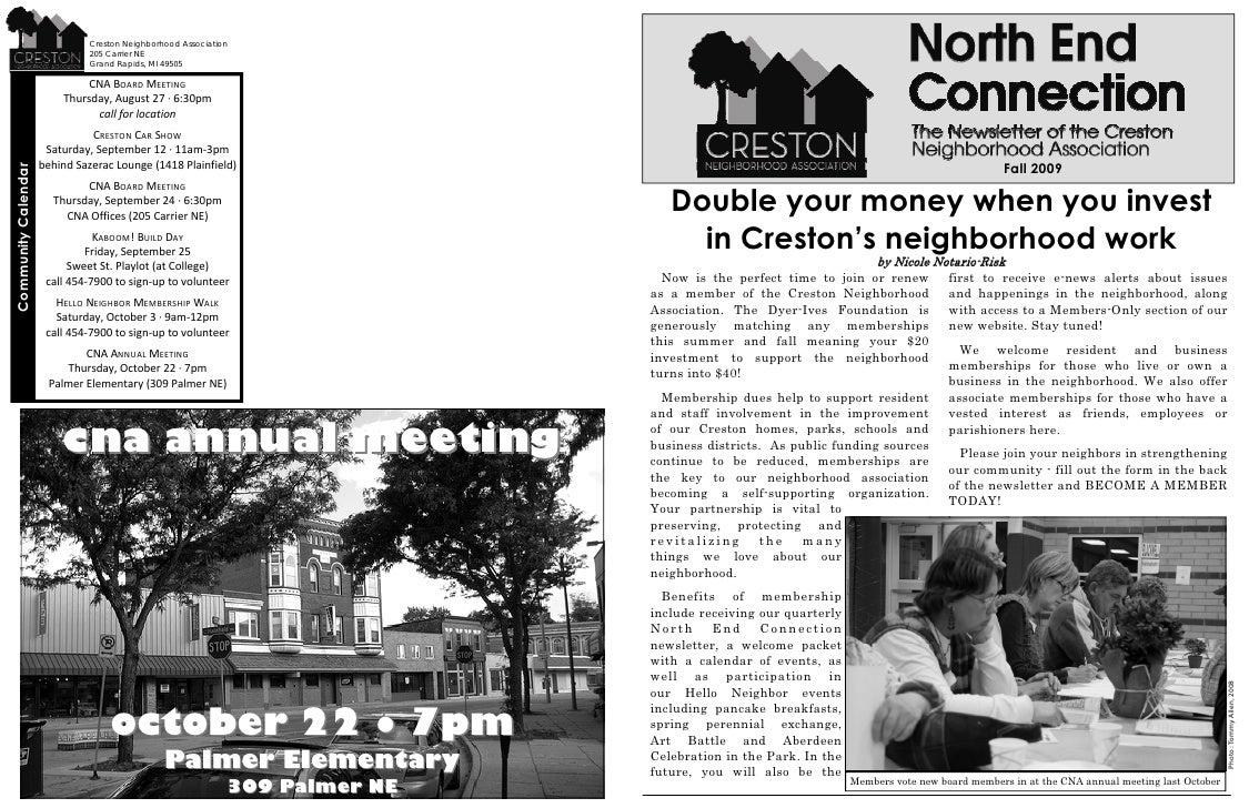 Creston Neighborhood Association Newsletter Fall 2009
