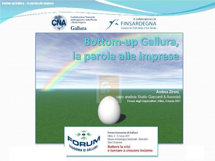 Andrea Zironi,   capo analista Studio Giaccardi & Associati Forum degli imprenditori, Olbia, 4 marzo 2011
