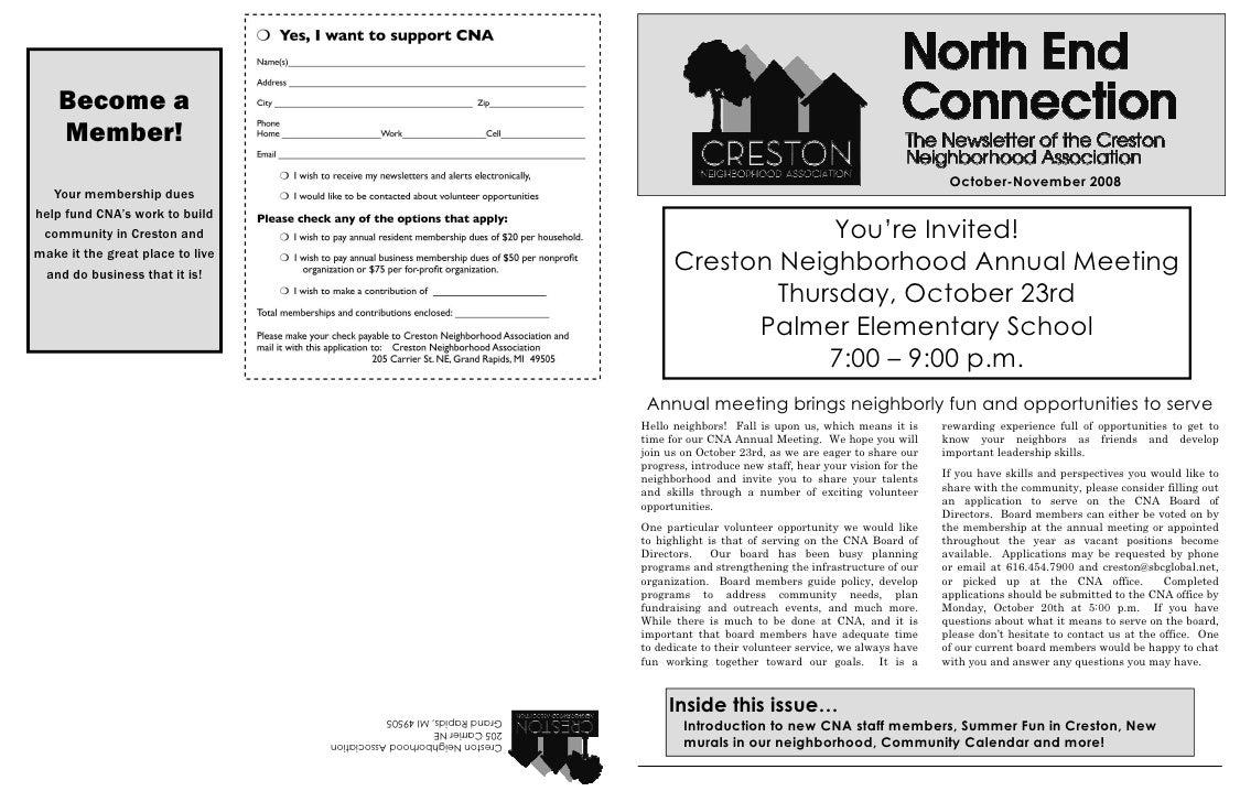 Creston Neighborhood Association Newsletter October/November 2008
