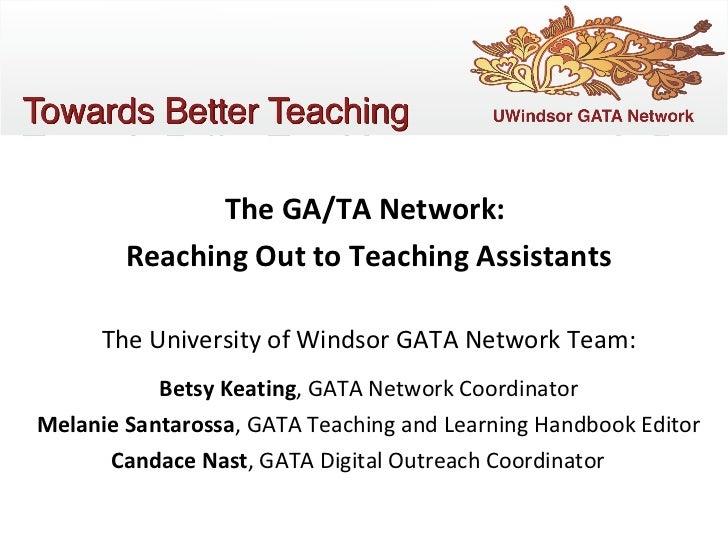 GATA Network - UWindsor Campus Technology Day, 2011