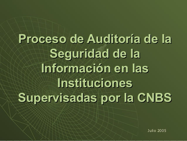 Cnbs auditoria