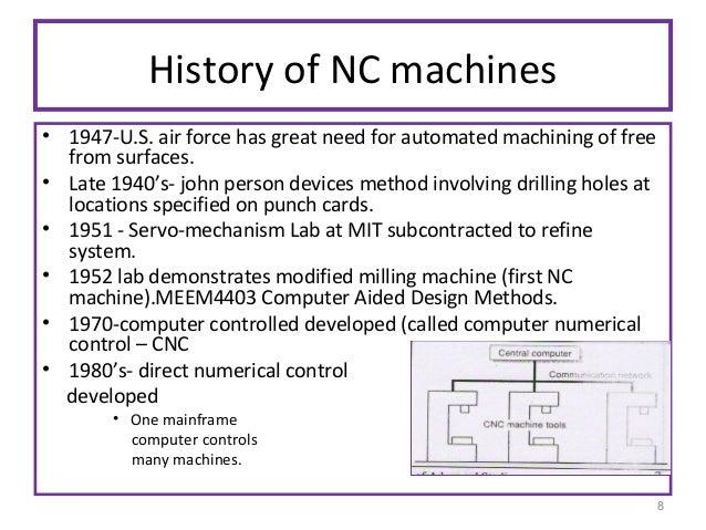 cnc machine history