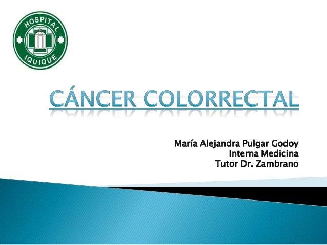 María Alejandra Pulgar Godoy             Interna Medicina          Tutor Dr. Zambrano