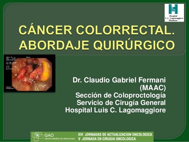 Dr. Claudio Gabriel Fermani                       (MAAC)   Sección de Coloproctología   Servicio de Cirugía GeneralHospita...