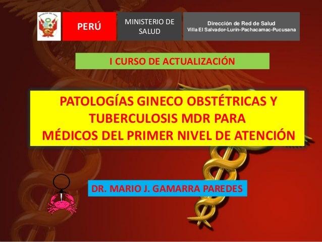 CANCER GINECOLOGICO - Dr. Mario J. Gamarra Paredes