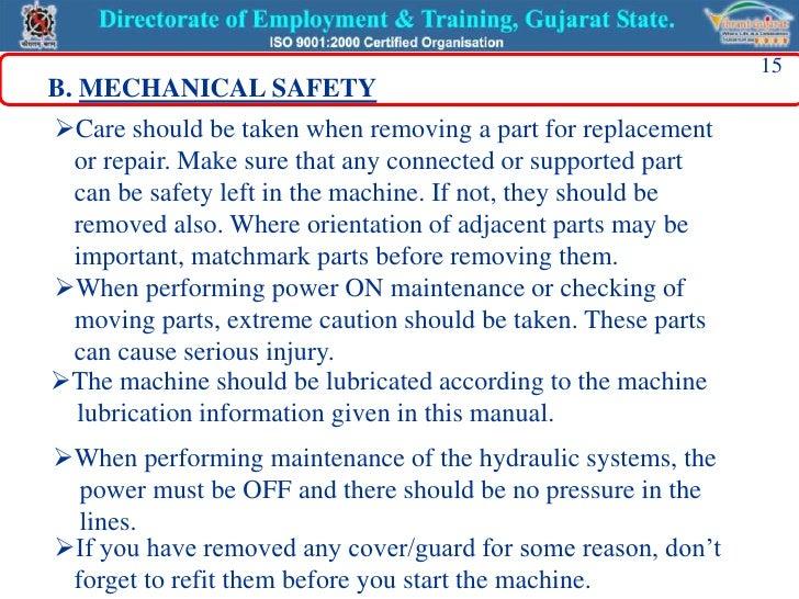 machine maintainance
