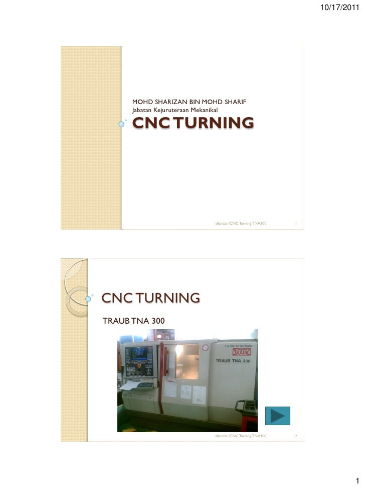 Cnc turning lecture4