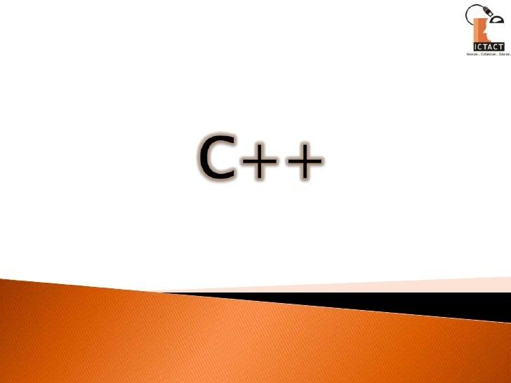ICT C++