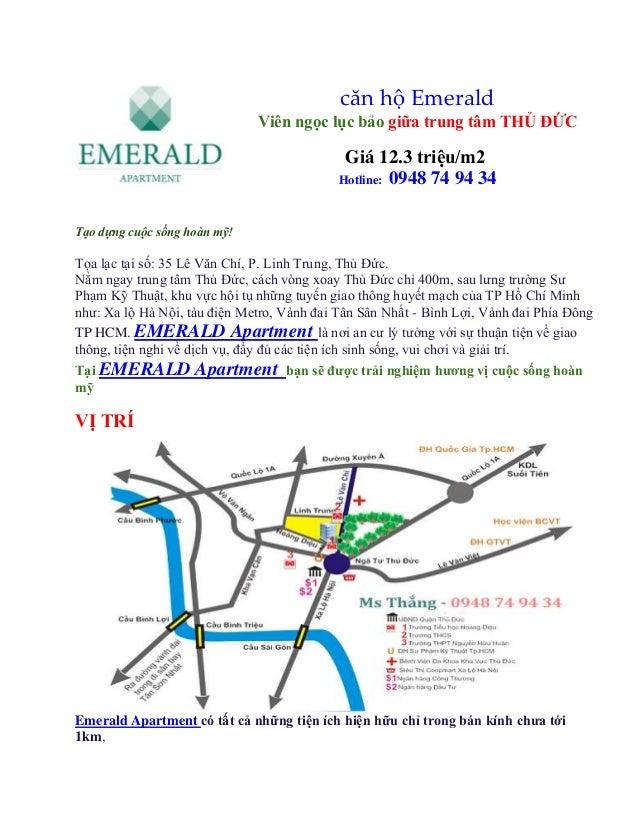 căn hộ Emerald Viên ngọc lục bảo giữa trung tâm THỦ ĐỨC  Giá 12.3 triệu/m2 Hotline: 0948 74 94 34 Tạo dựng cuộc sống hoàn ...