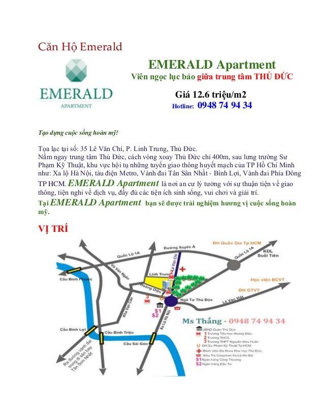 Căn hộ emerald tạo dựng cuộc sống hoàn hảo cho gia đình bạn tại khu vực thủ đức