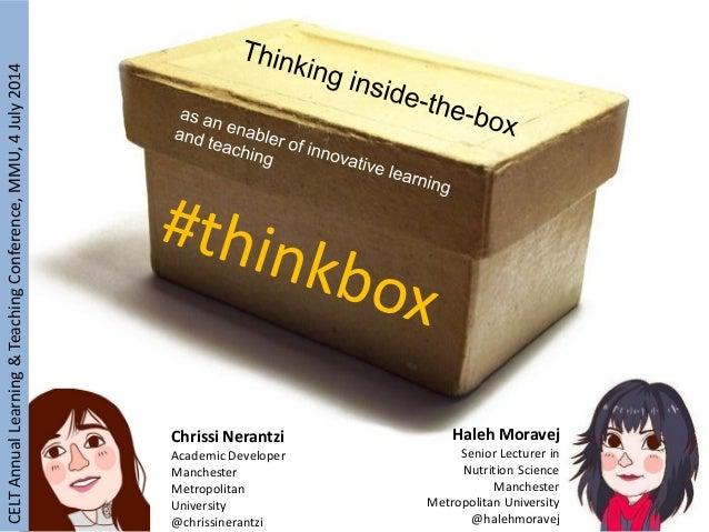 Thinking inside the box workshop with Haleh Moravej