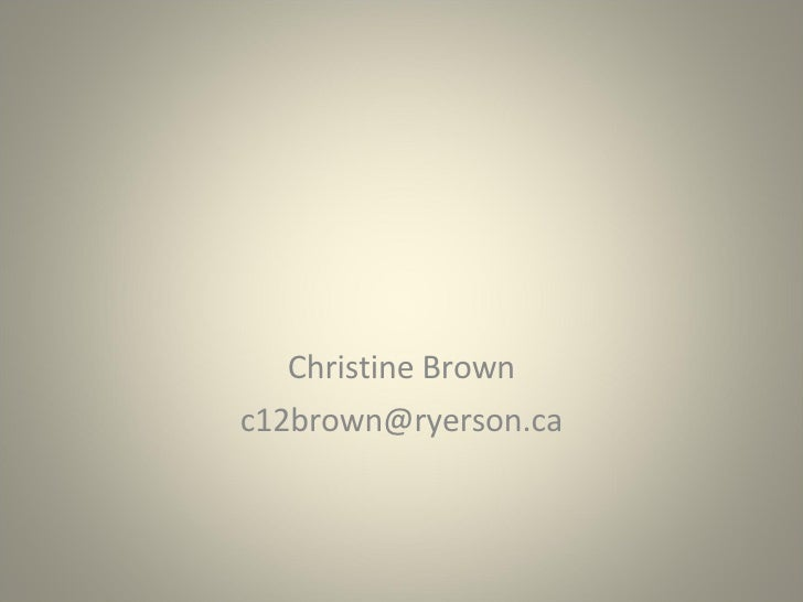 Christine Brown [email_address]