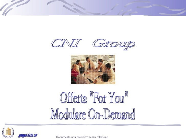 """Offerta CNI """"For You"""""""