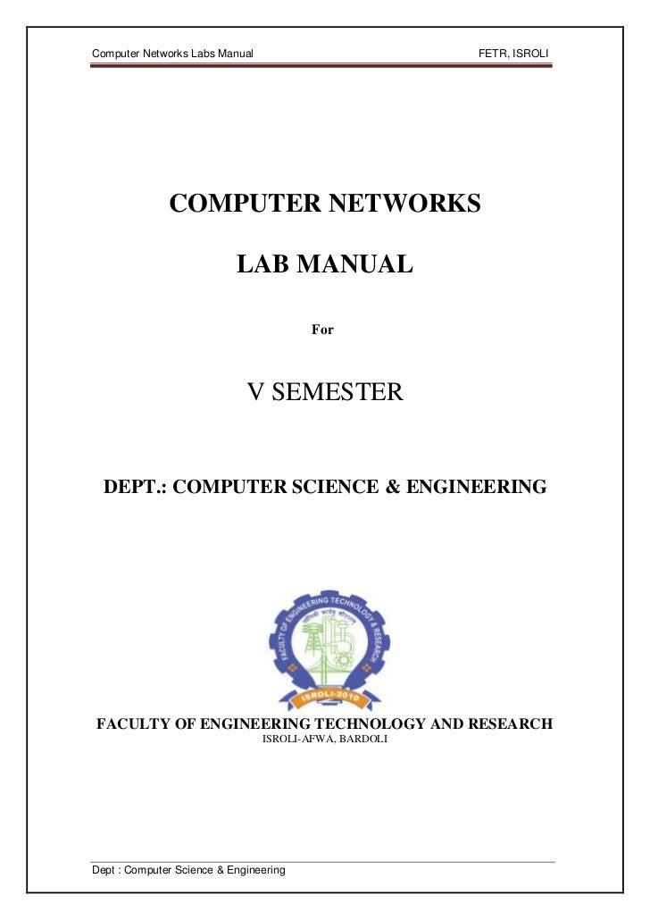 Computer Networks Labs Manual                          FETR, ISROLI              COMPUTER NETWORKS                        ...