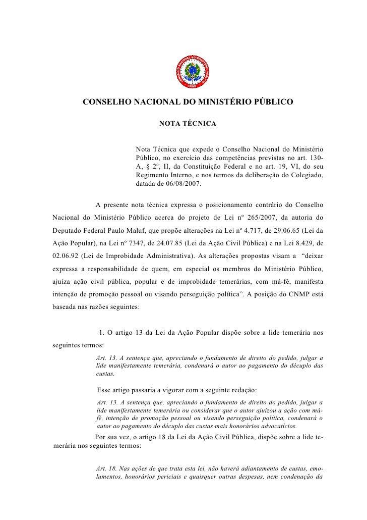 Cnmp   Nota TéCnica Pl 265 2007