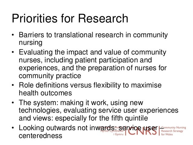 Community nursing research strategy wales