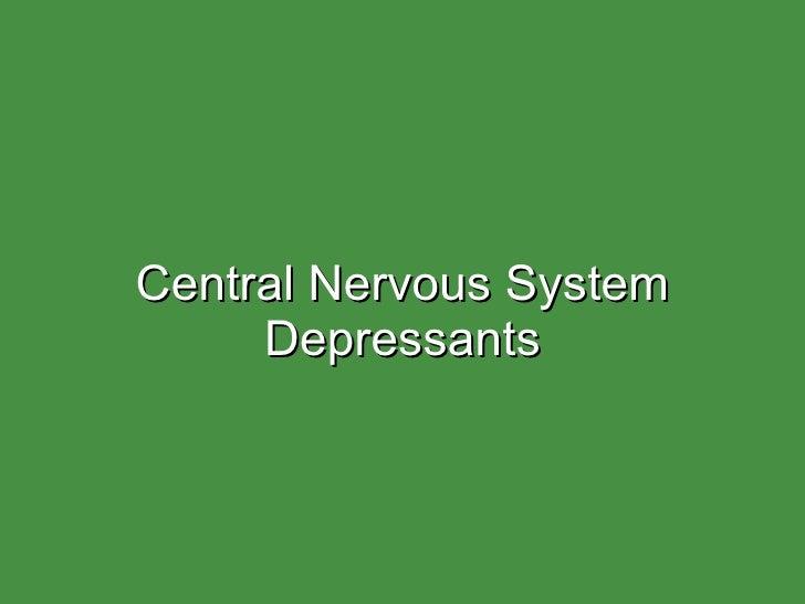 Cns depressants