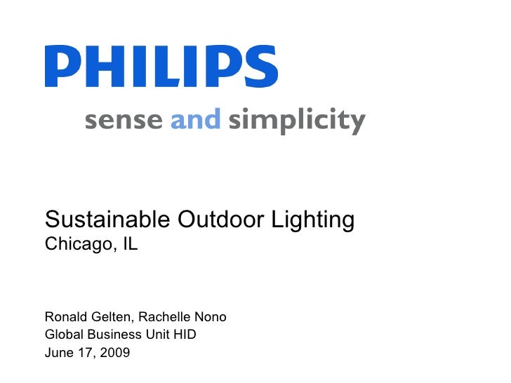 Sustainable Outdoor Lighting