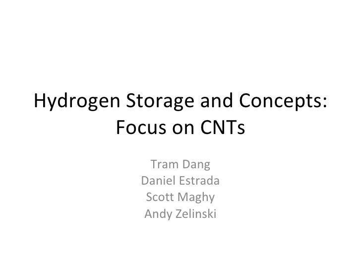 CNT Hydrogen Storage Brief