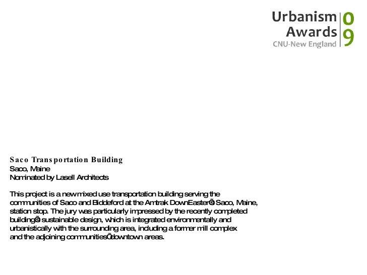 2009 CNU New England Urbanism Awards