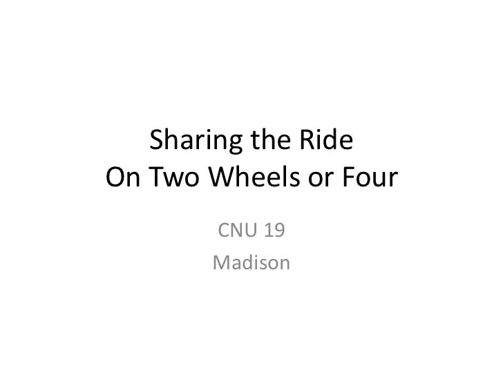 Ridesharing Institute CNU Presentation