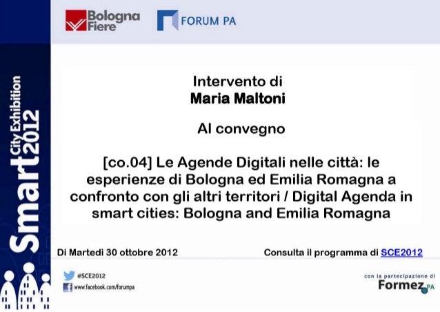 Maria Maltoni a SCE 2012