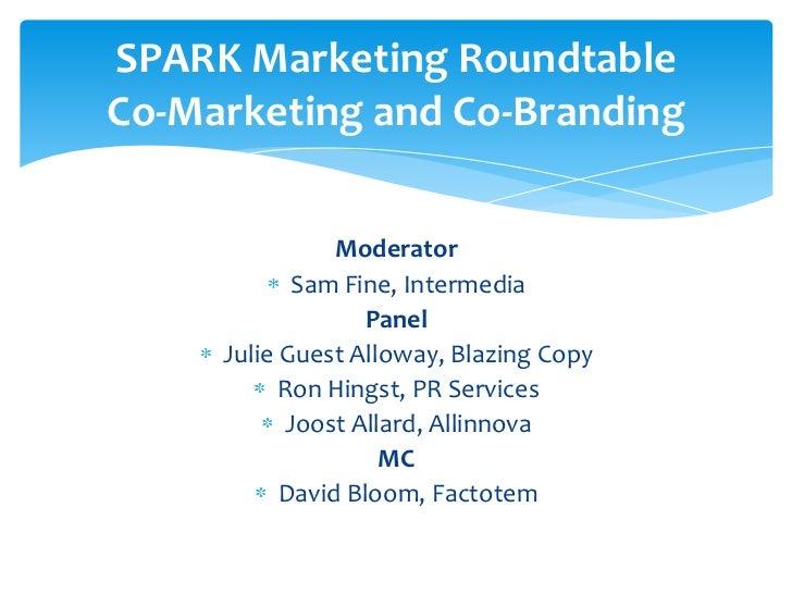 May 2011 - Marketing Roundtable - Sam Fine