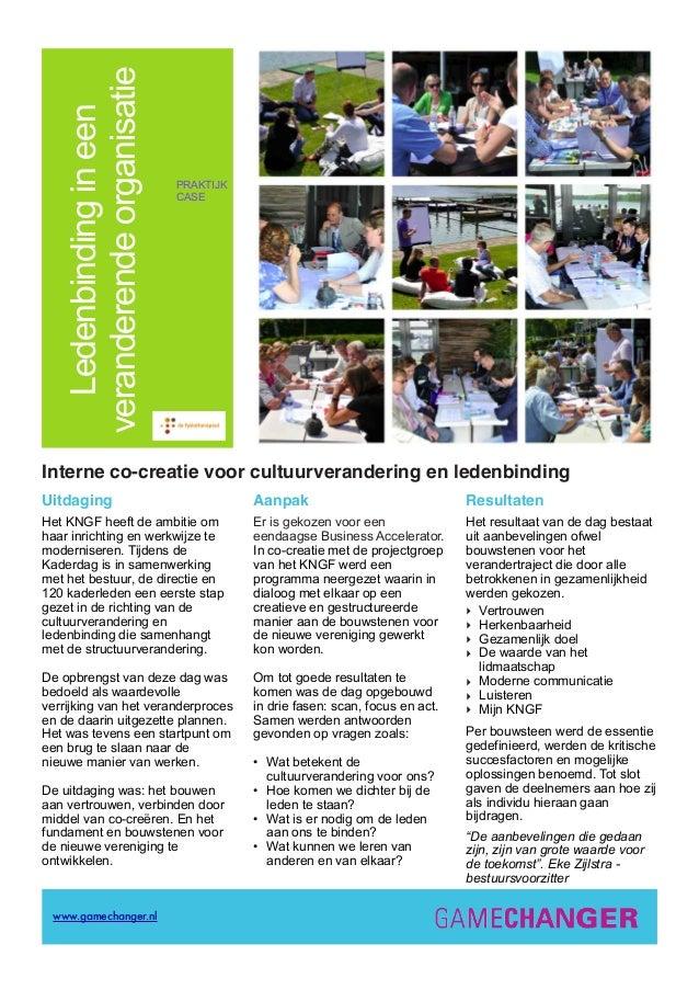 Co-creatie case cultuurverandering en ledenbinding