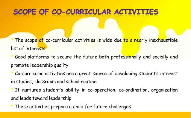 essay on extra co-curricular activities Writepass - essay writing - dissertation topics [toc] [hide details]  it would  explore the grounds as to why extra-curricular activities are a contributing factor  to the educational development of a  (alan dyson, bbccouk.