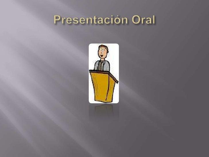 Presentación Oral<br />