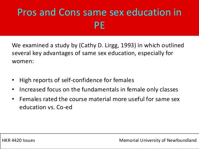 Single-Sex Education Pros And Cons Essay