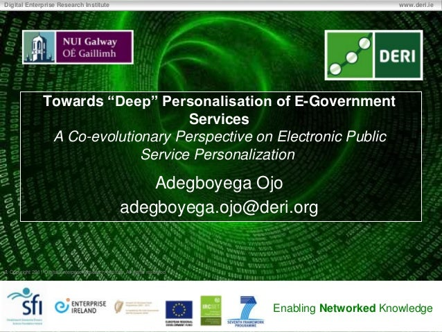 """Towards """"Deep"""" Personalisation of E-Government Services"""