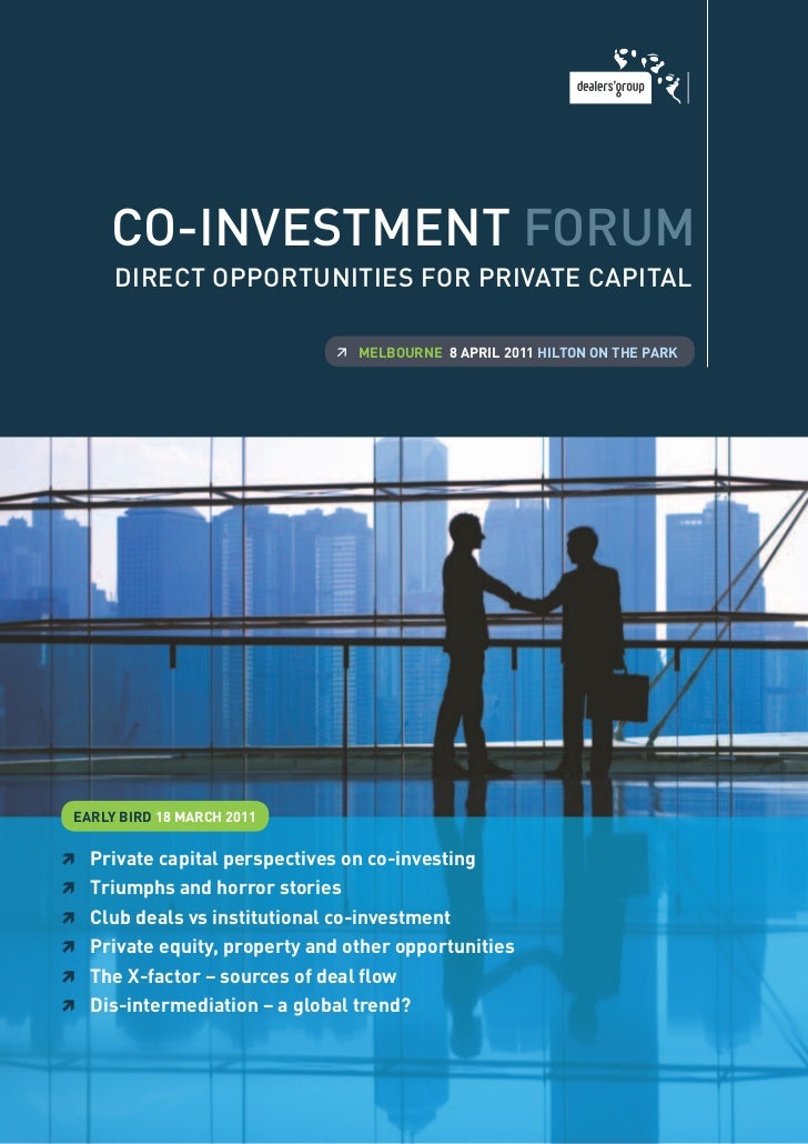 Co-investment forum - Direct Opportunities in Private Capital