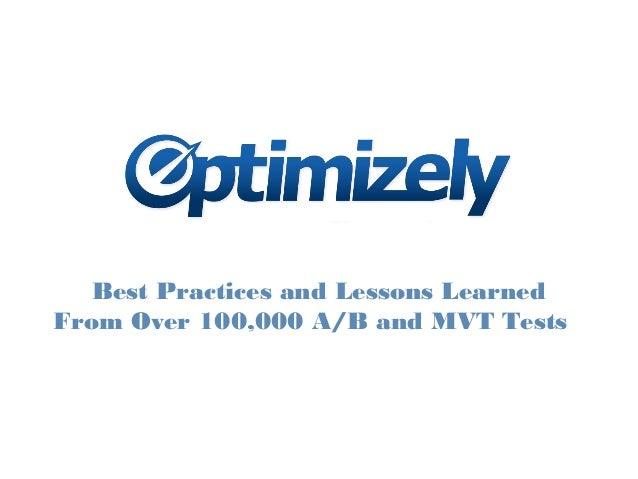 Optimizely - Conversion Optimization Masterclass