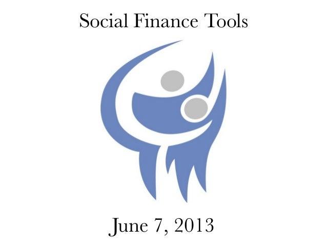 Social Finance ToolsJune 7, 2013