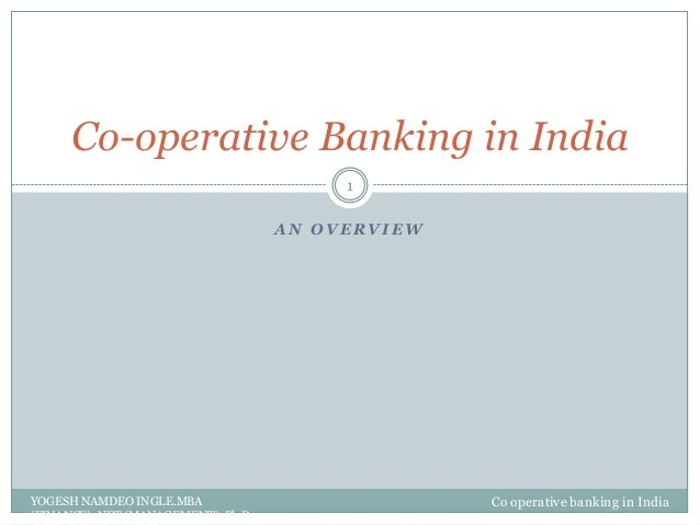 Co operative banking in india