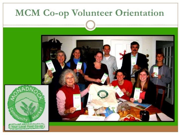 Co-op Volunteer Orientation Powerpoint