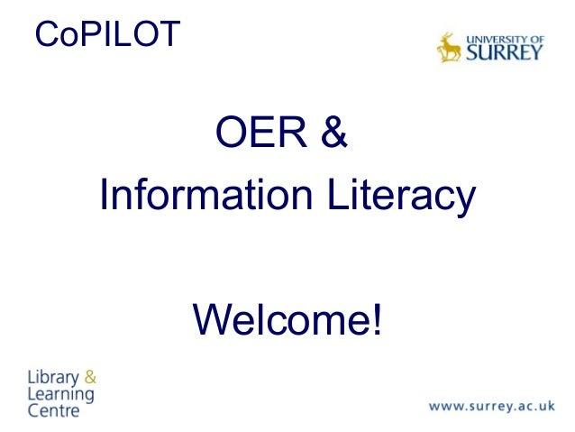 CoPILOTOER &Information LiteracyWelcome!