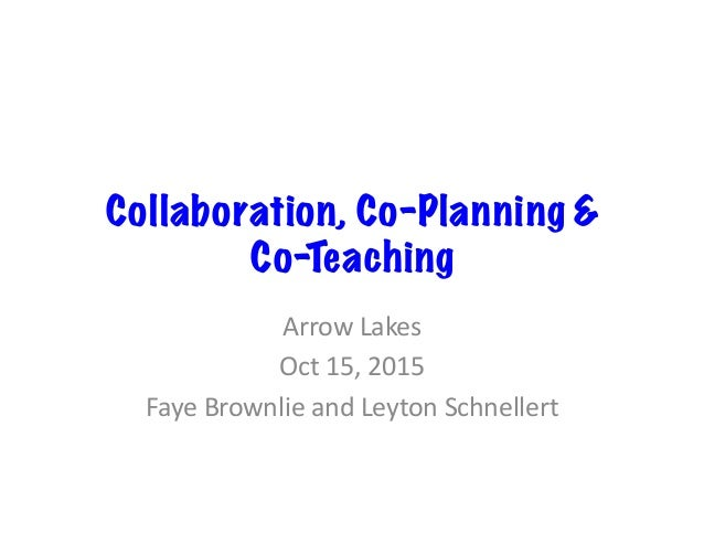 Collaborative Co Teaching ~ Collaboration co teaching planning arrow lakes